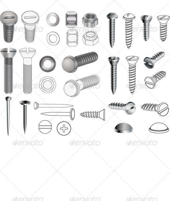Nuts And Bolts Vector at GetDrawings com | Free for personal use