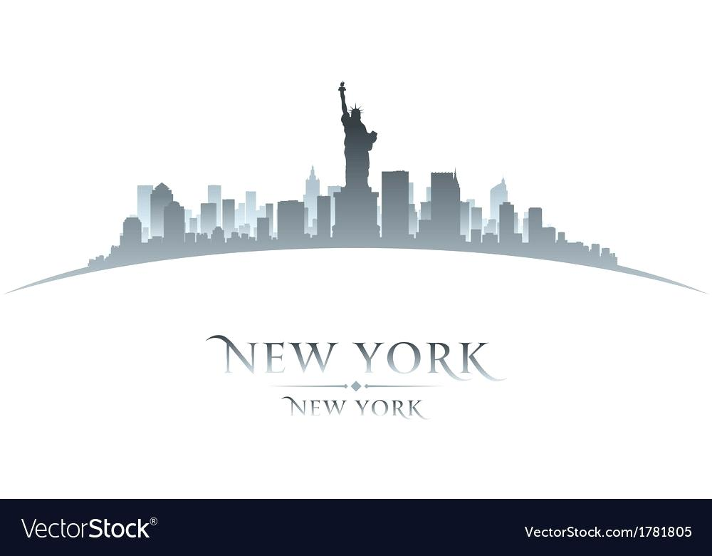 1000x780 Nyc Skyline Silhouette New City Skyline Silhouette Vector Image