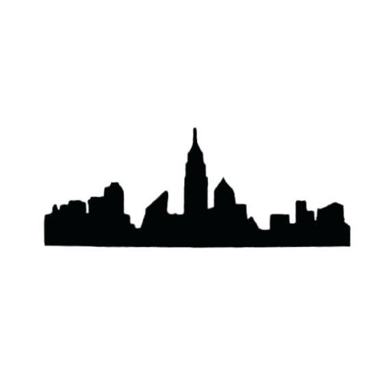 570x570 Nyc Skyline Silhouette New City Skyline Detailed Silhouette Vector