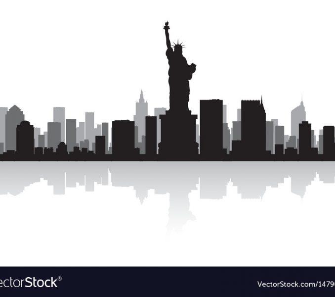 678x600 Nyc Skyline Silhouette New York Usa City Skyline Silhouette