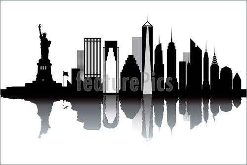 Nyc Skyline Vector Free At Getdrawings Com Free For Personal Use