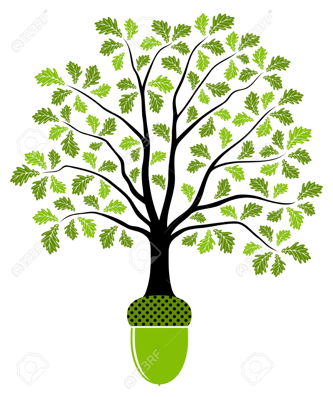Oak Tree Vector Free Download