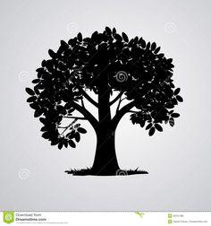 236x252 Oak Tree Silhouette Vectors Commission References