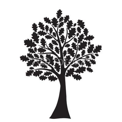 400x400 Oak Tree Vector Free Download