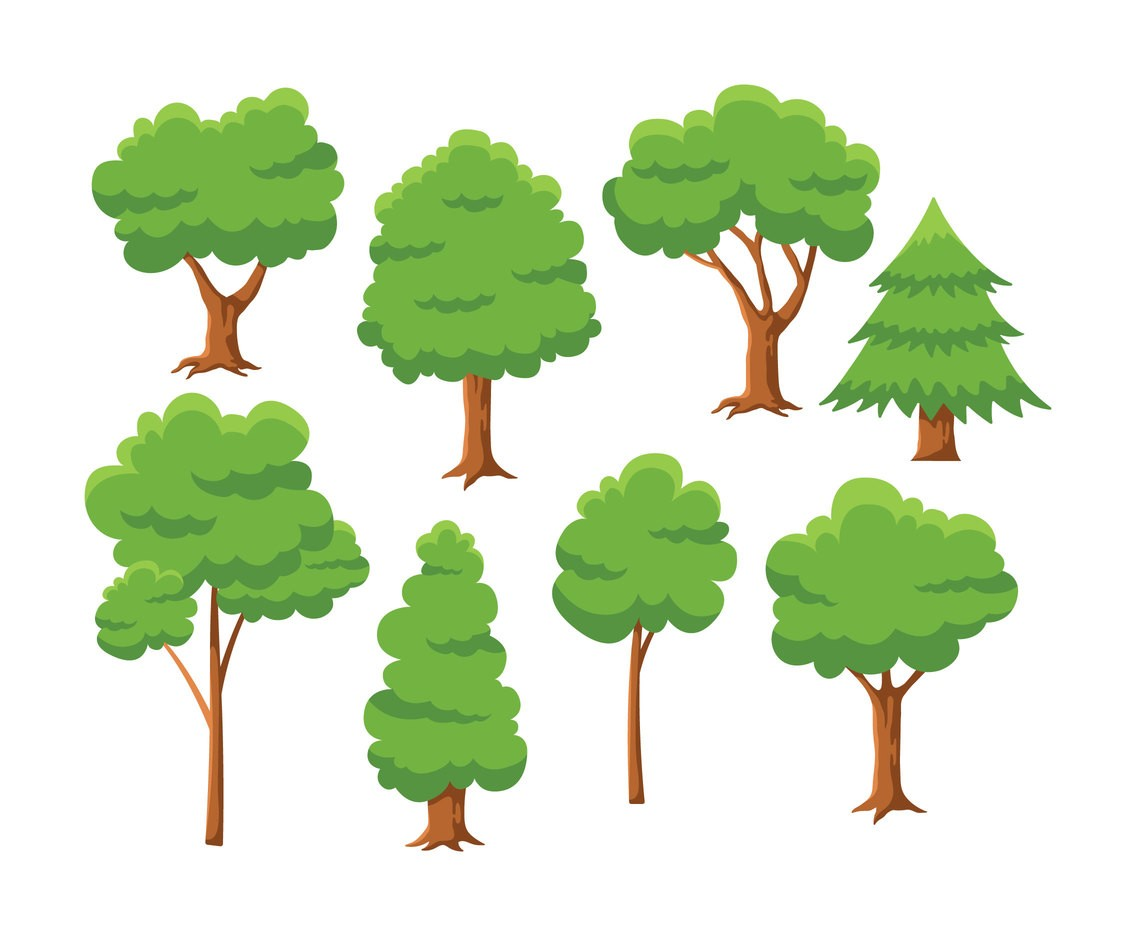 1136x936 Various Oak Trees Vector Silhouettes Free Download Tree 7