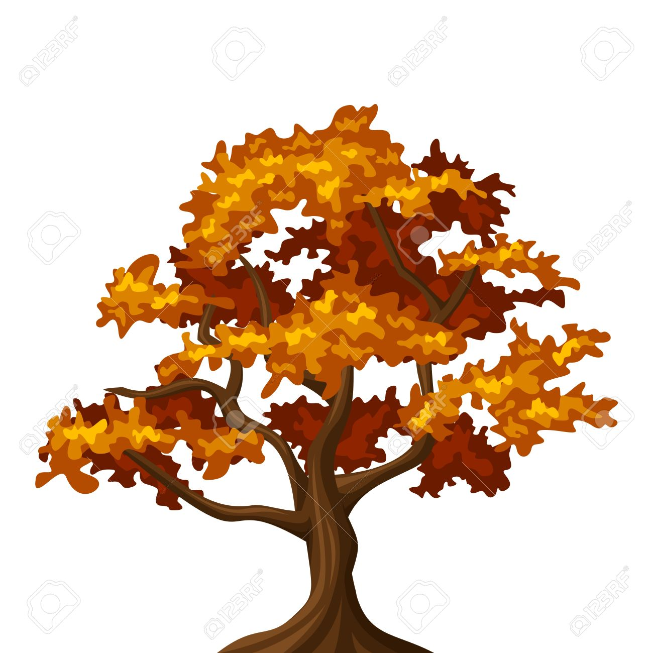 1300x1300 Collection Of Free Deciduity Clipart Fall Oak Tree. Download On