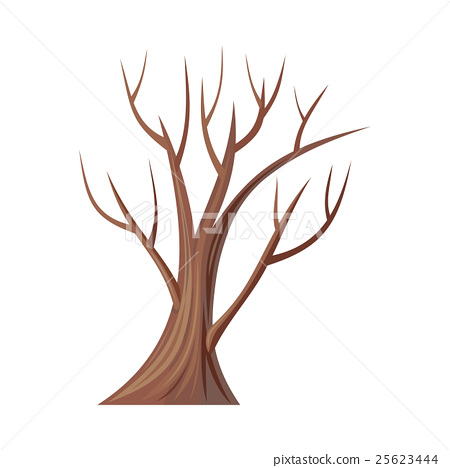 450x468 Bare Tree Without Leaves. Oak. Vector