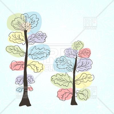 400x400 Stylized Spring Tree