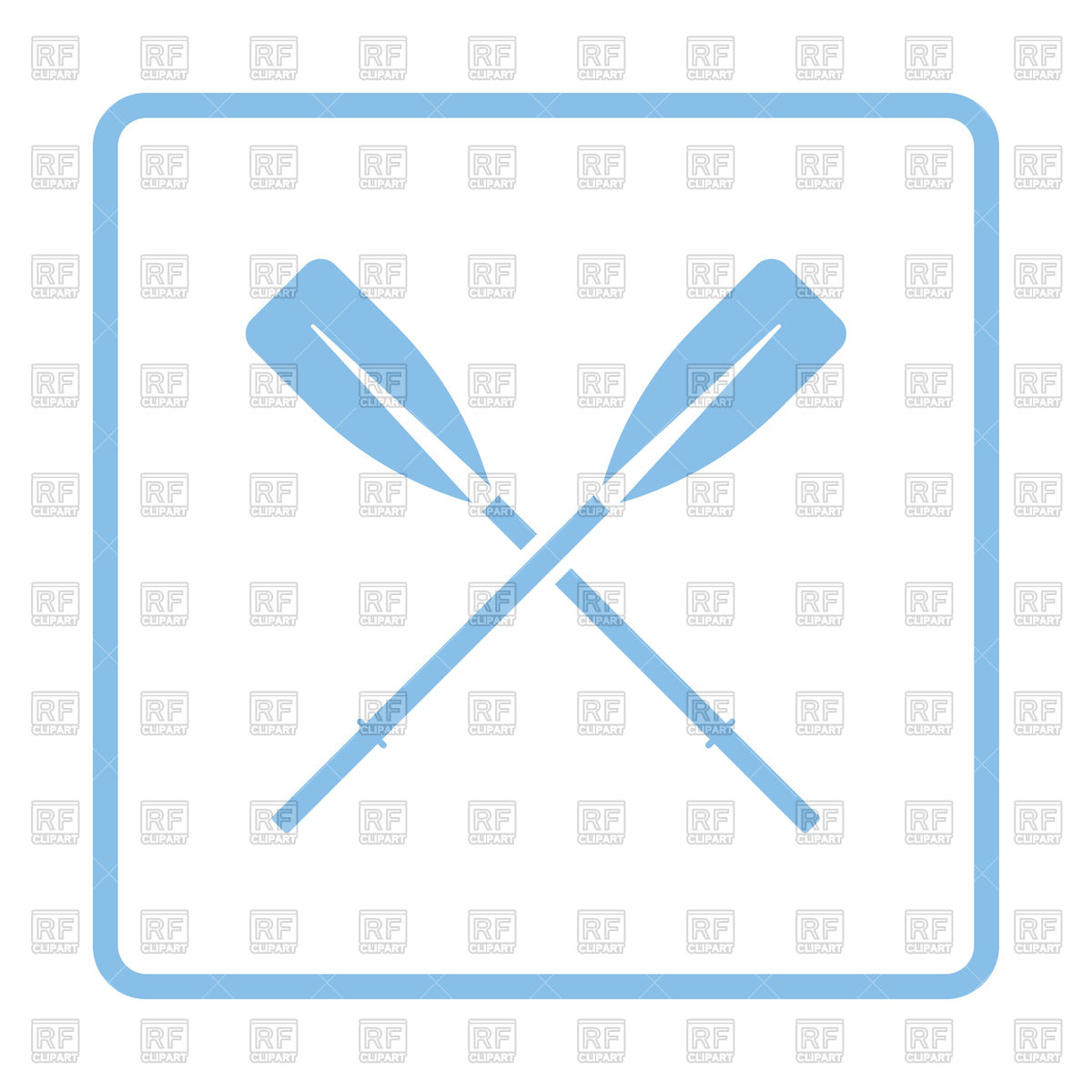 1200x1200 Blue Frame Design Of Icon Of Boat Oars Vector Image Vector