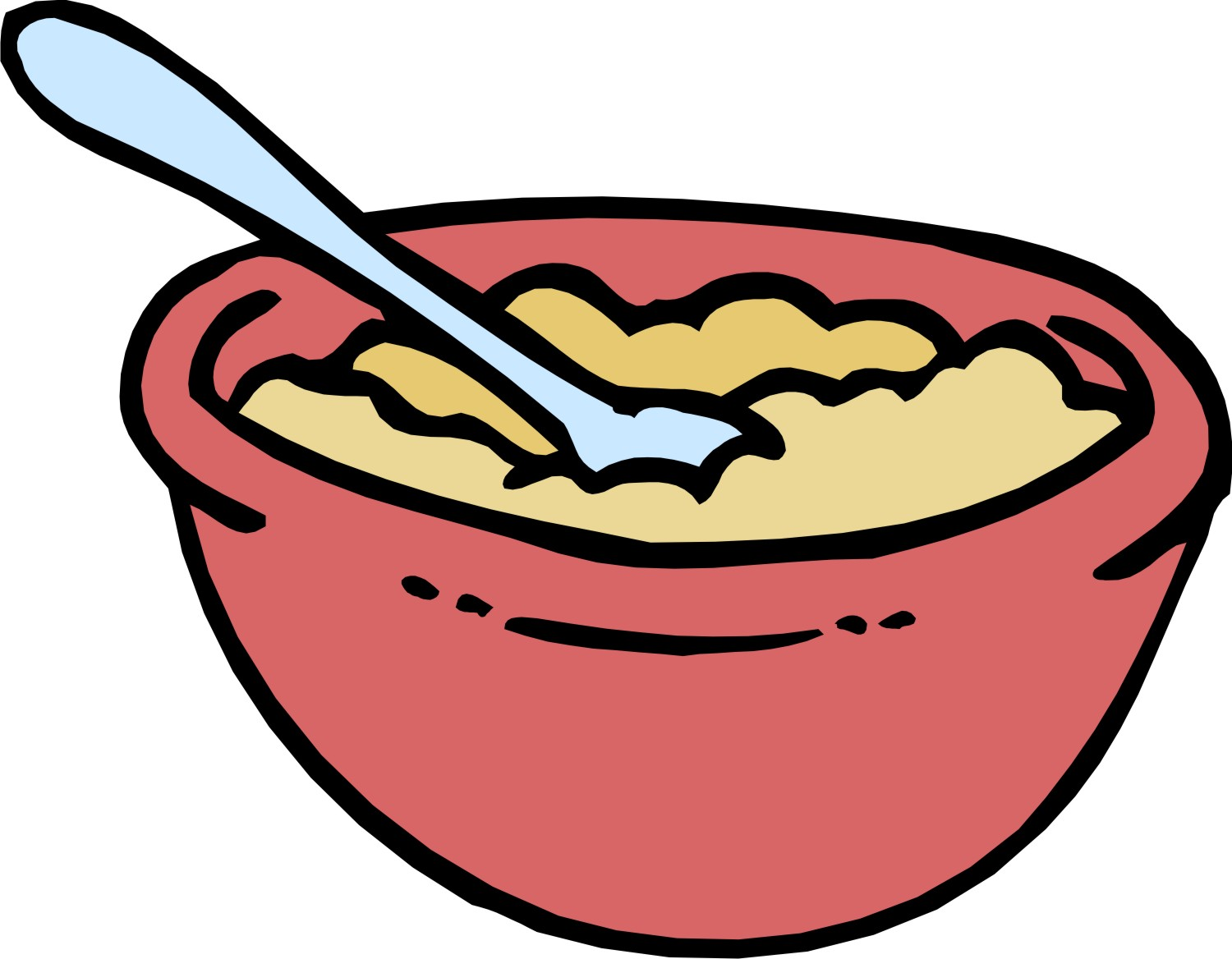 1500x1168 Oatmeal Clipart Breakfast Time