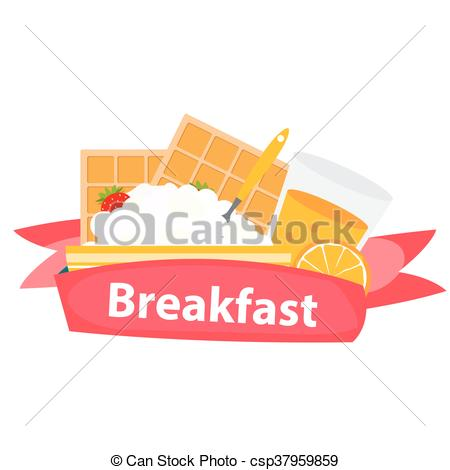 450x470 Breakfast Cereal Oatmeal And Orange Juice, Icon In Modern