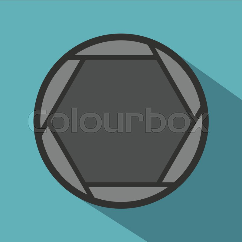 800x800 Closed Objective Icon. Flat Illustration Of Closed Objective