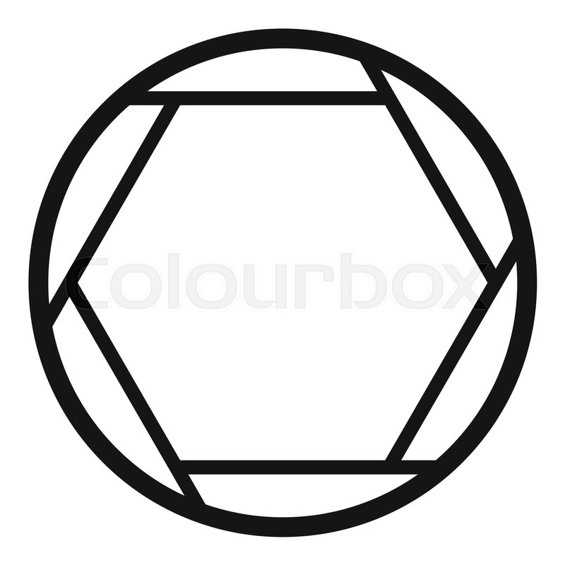 800x800 Closed Objective Icon. Simple Illustration Of Closed Objective