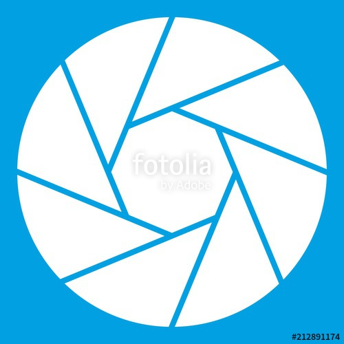 500x500 Little Objective Icon White Isolated On Blue Background Vector
