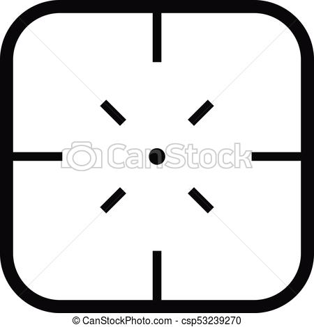 450x470 Military Objective Icon, Simple Style. Military Objective Icon