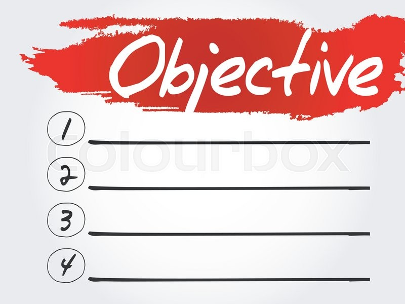 800x600 Objective Blank List, Business Concept Stock Vector Colourbox