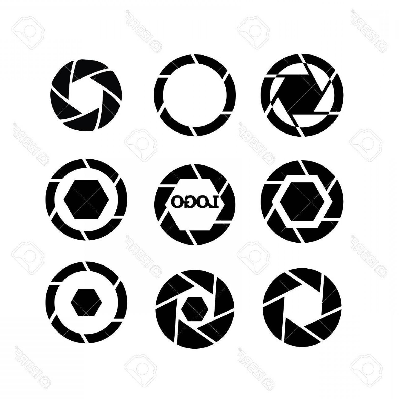 1560x1560 Photostock Vector Shutter Vector Camera Objective Icon Shutter