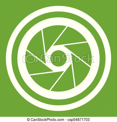 450x470 Big Objective Icon Green. Big Objective Icon White Isolated On
