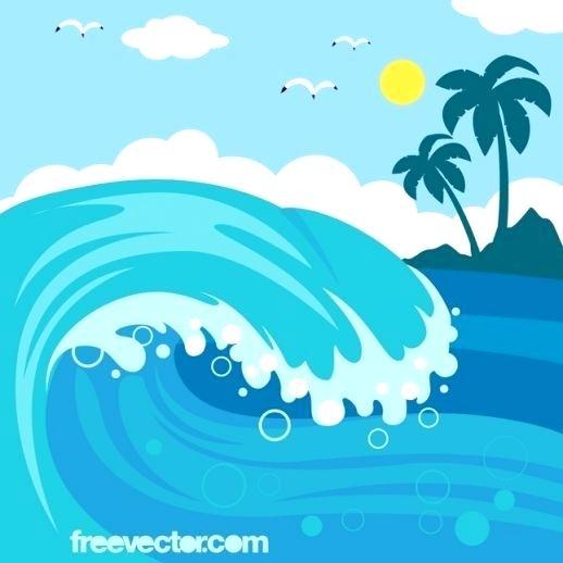 518x518 Wave Clip Art Free Free Wave Cartoon Ocean Waves Wave Vector Waves