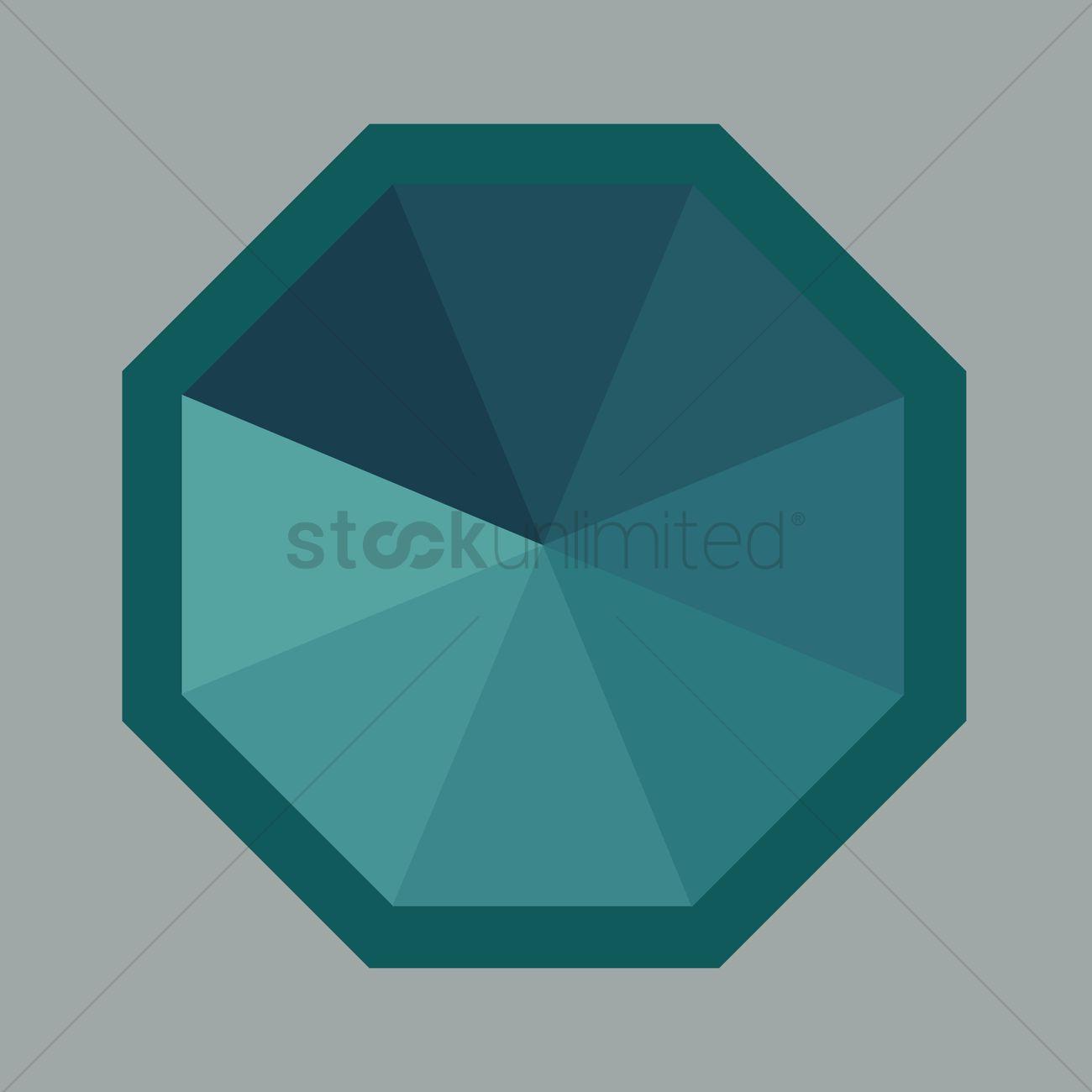 1300x1300 Octagon Vector Image