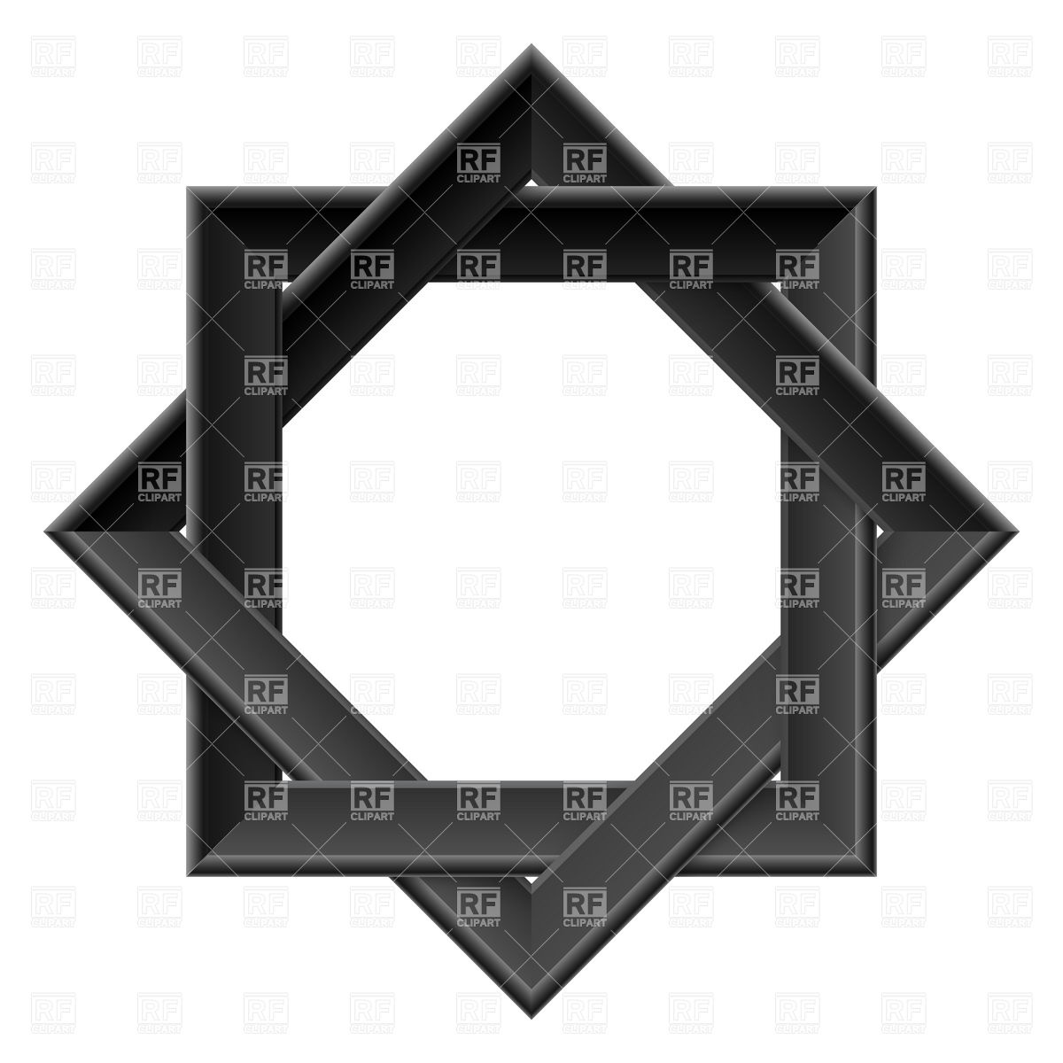 1200x1200 Realistic Black Octagon Frame Vector Image Vector Artwork Of