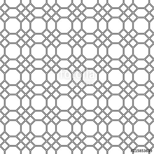 500x500 Seamless Pattern Of The Octagon Vector. Octagon Pattern. Octagon