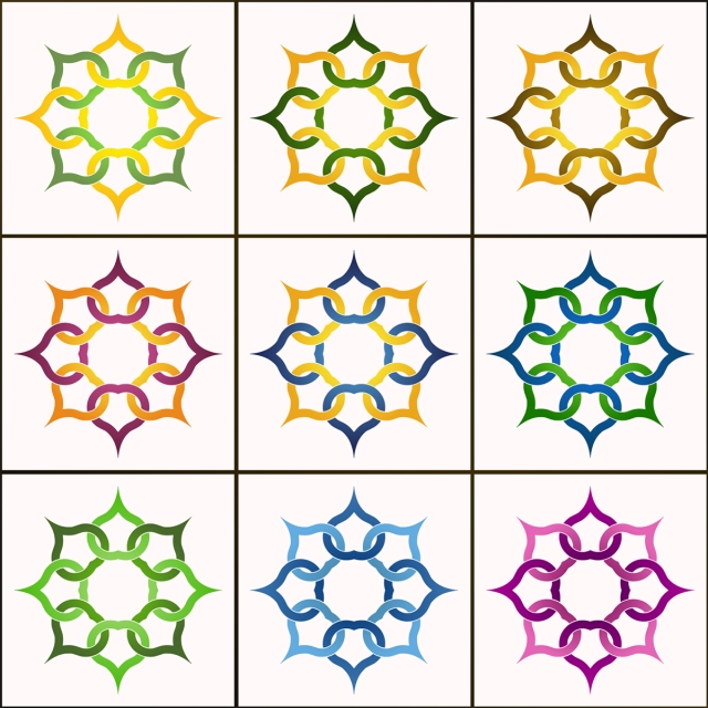 640x640 9 Decorative Octagon Vector, Islamic Vector, Frames, Vector Frame