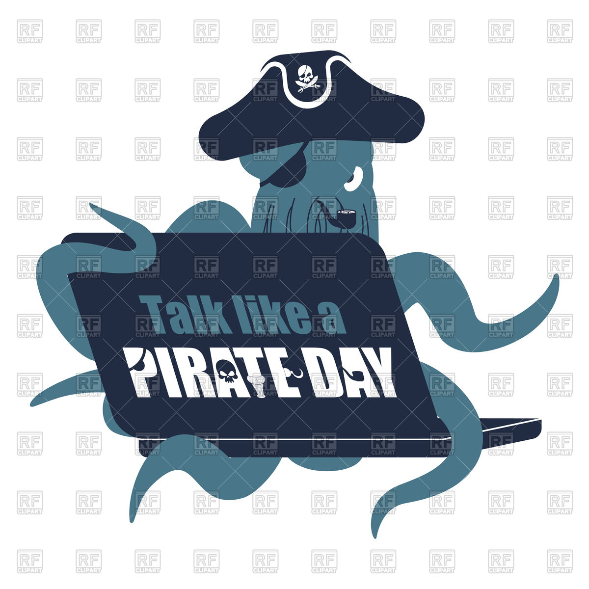 1200x1200 International Talk Like A Pirate Day. Octopus Web Pirate And