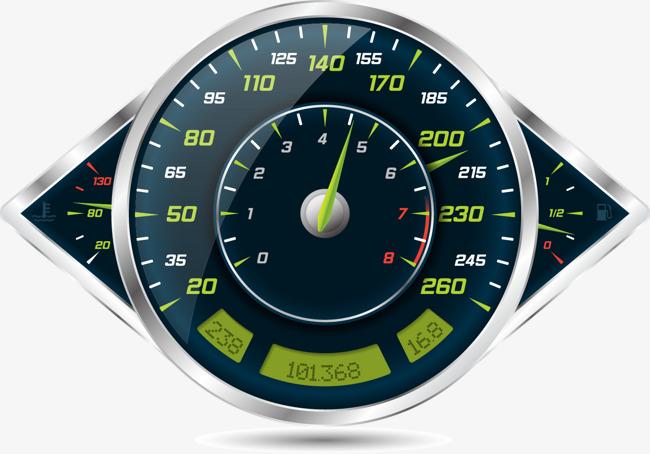 650x454 Vector Car Odometer, Speedometer, Speedometer, Speed U200bu200bindicator