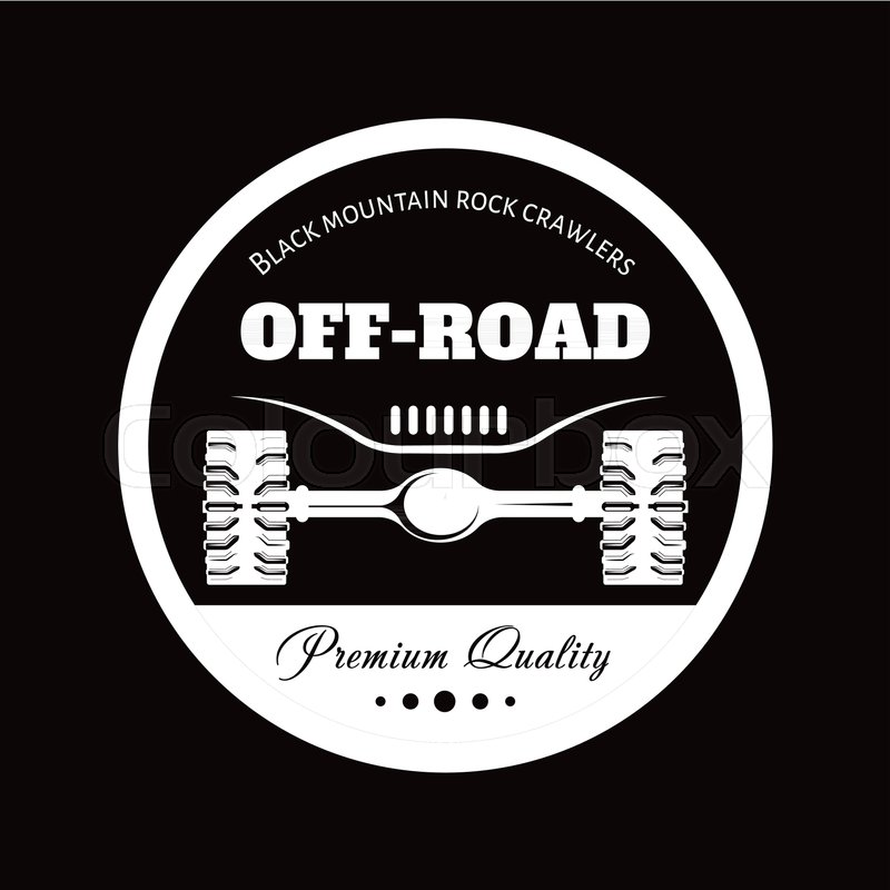 800x800 Off Road Car Or Truck Adventure Trip Logo Template, Vector Icon Of