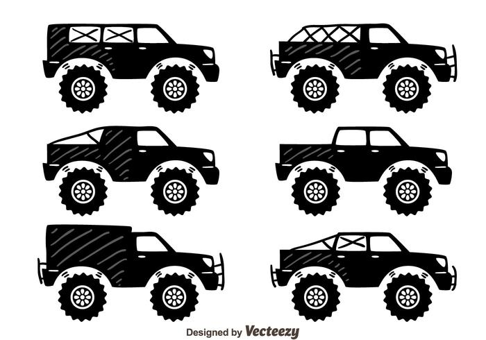 700x490 Offroad Suv Car Collection Vector
