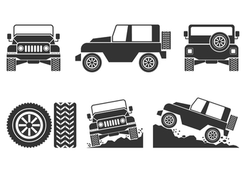 352x247 Offroad Vehicle Icons Vector Free Vector Download 405093 Cannypic