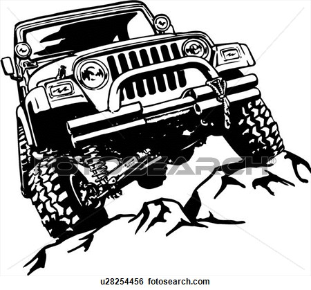 450x419 Off Road Jeep Clipart