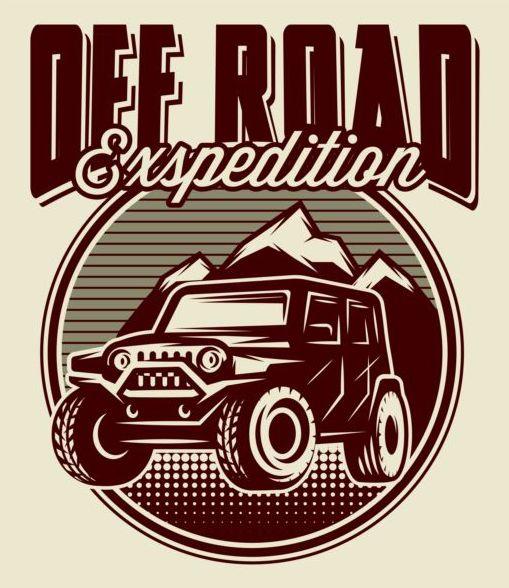 509x588 Off Road Retro Poster Vector