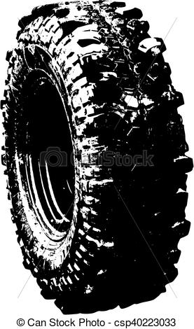 277x470 Black Tyre Offroad Symbol. Vector Ilustration Of An Black Tyre Symbol.