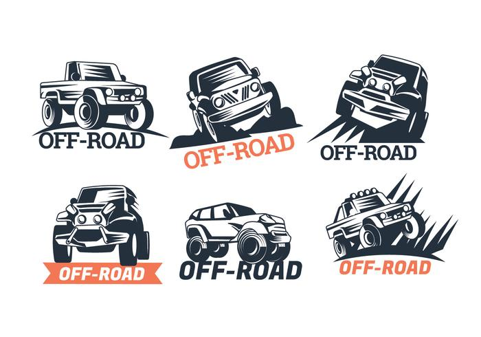 700x490 Set Of Six Off Road Suv Logos Isolated On White Background