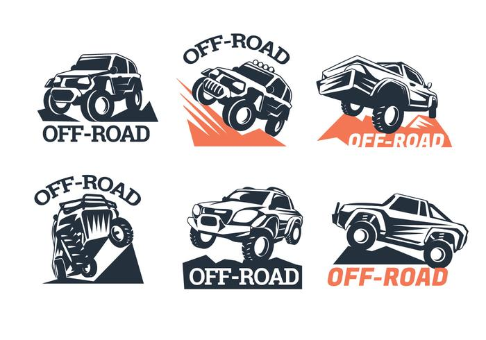 700x490 Set Of Six Off Road Suv Logos On White Background