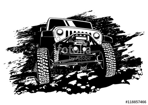 500x354 Offroad Jeep Stock Image And Royalty Free Vector Files On Fotolia