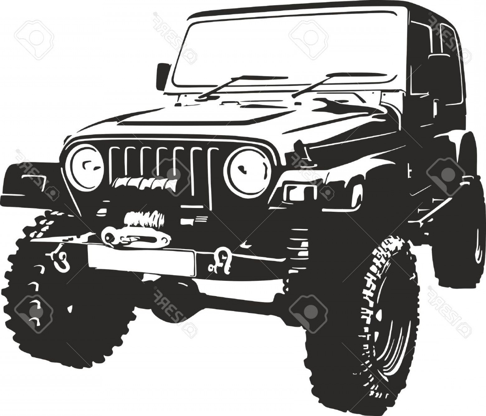 1560x1336 Jeep Off Road Vector Art Rongholland