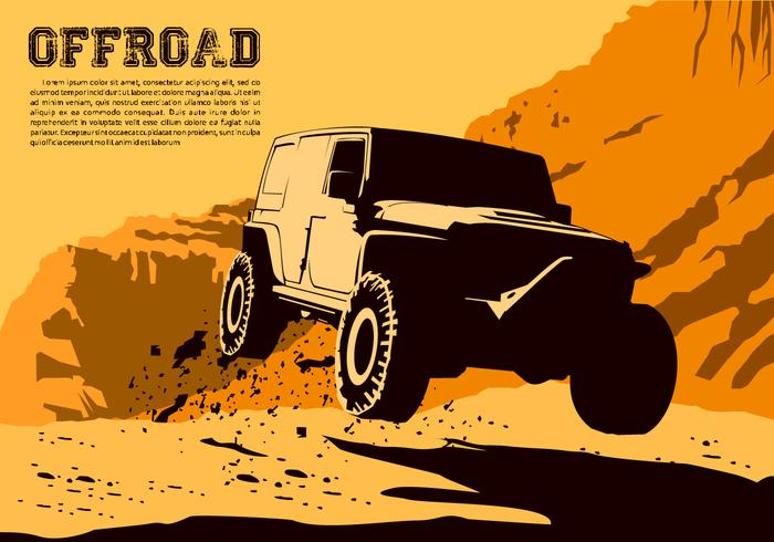 700x490 Jumping Offroad Vector