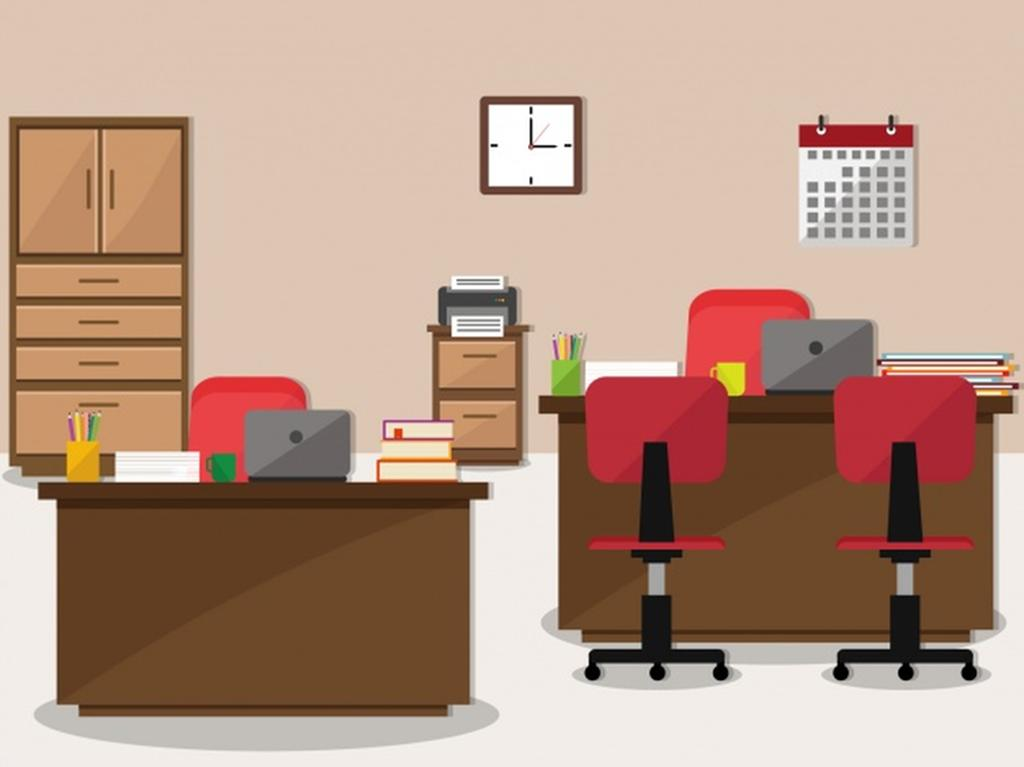 Office Background Vector