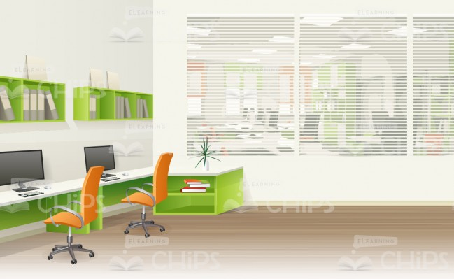 649x399 Innovative Office Room Vector Background