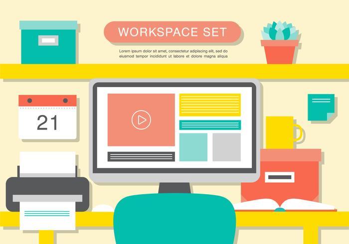 700x490 Modern Office Interior Vector Background