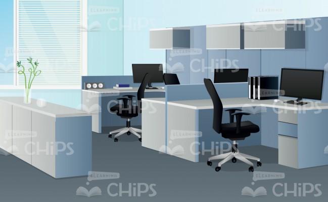 649x399 Modern Office Interior Vector Background