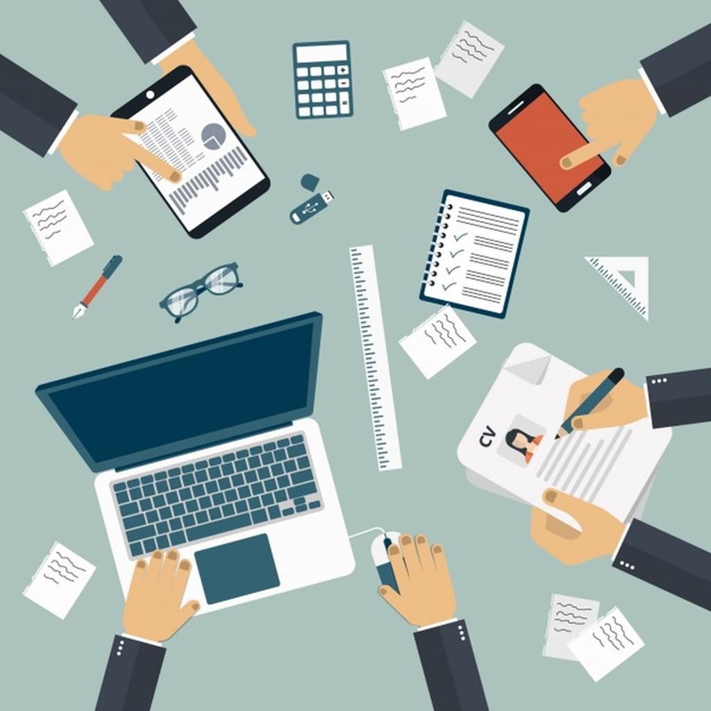 1024x1024 Office Background Design Vector Free Download October