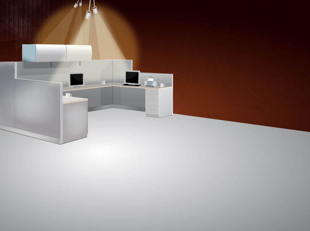 1024x765 Office Cubicle Vector