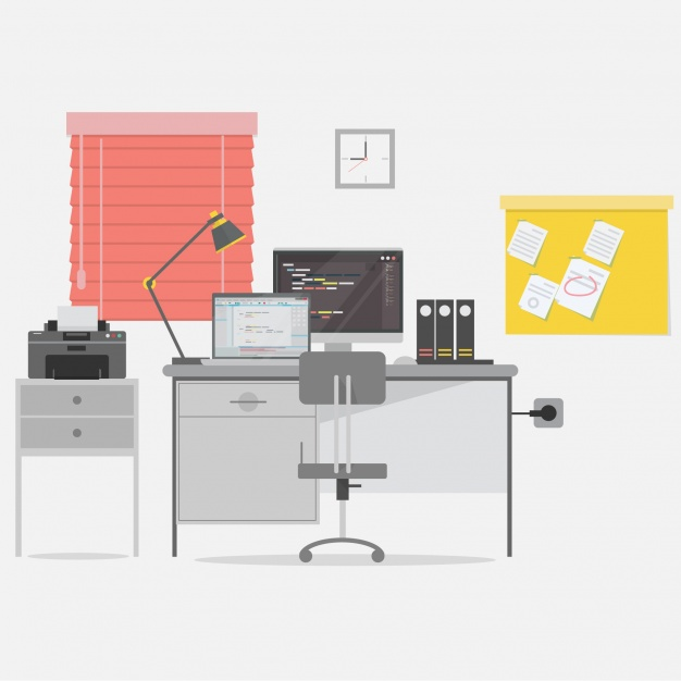626x626 Office Background Design Vector Free Download