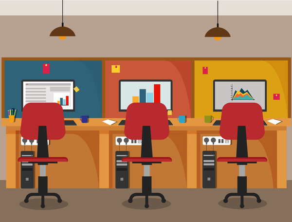 600x456 Office Flat Styles Background Vector 01 Free Download