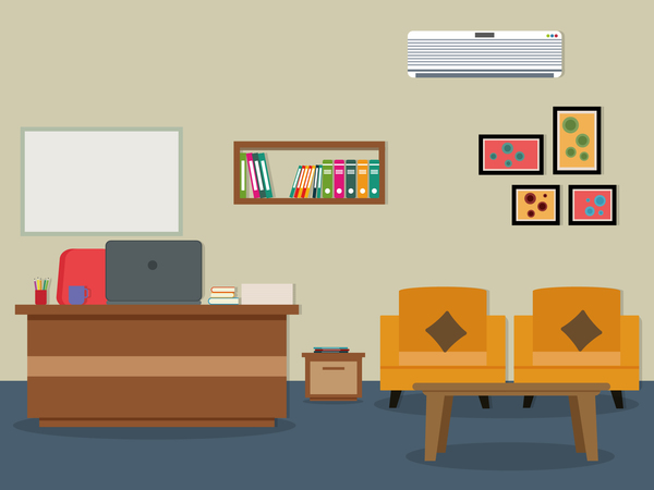 600x450 Office Flat Styles Background Vector 04 Free Download