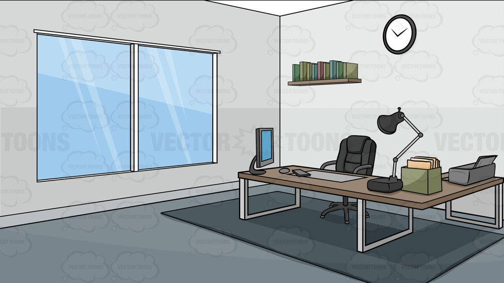 1024x576 A Modern Office Background Clipart By Vector Toons